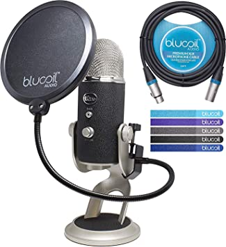 Blue Microphones Yeti Pro XLR & USB Condensador Micrófono Bundle ...
