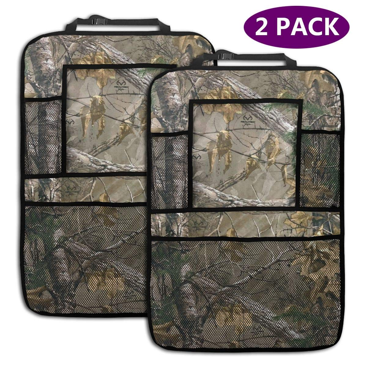 QF6FEICHAN Realtree Car Seat Back Protectors with Storage Pockets Kick Mats Accessories for Kids and Toddlers by QF6FEICHAN