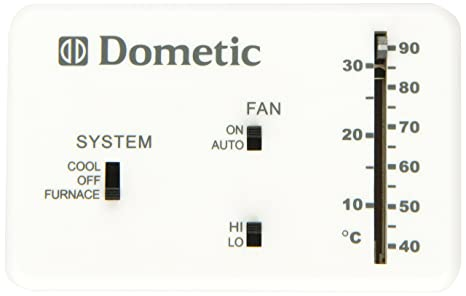amazon com dometic d3106995 032 heat cool analog thermostat automotive000 Dometic Duotherm Analog Replacement Control Kit Thermostat White #14