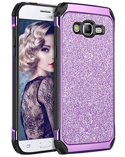 meet 7f0c6 2f770 YINLAI Galaxy J2 Prime Galaxy Case, Grand Prime Case Glitter Bling 2 in 1  Slim Hybrid TPU Bumper Hard PC Cover Sparkly Phone Cases Compatible with ...