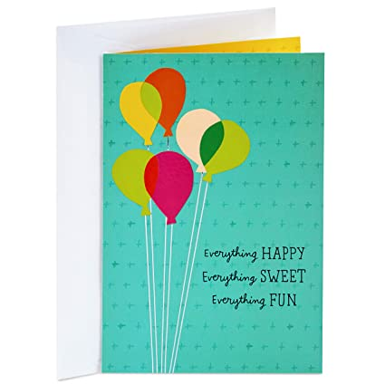 Amazon Hallmark Birthday Card Balloons Signed And Mailed For