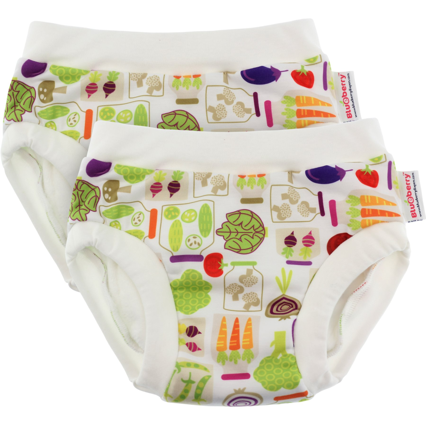 Blueberry Training Pants, Bundle of 2 (Medium, Veggies)