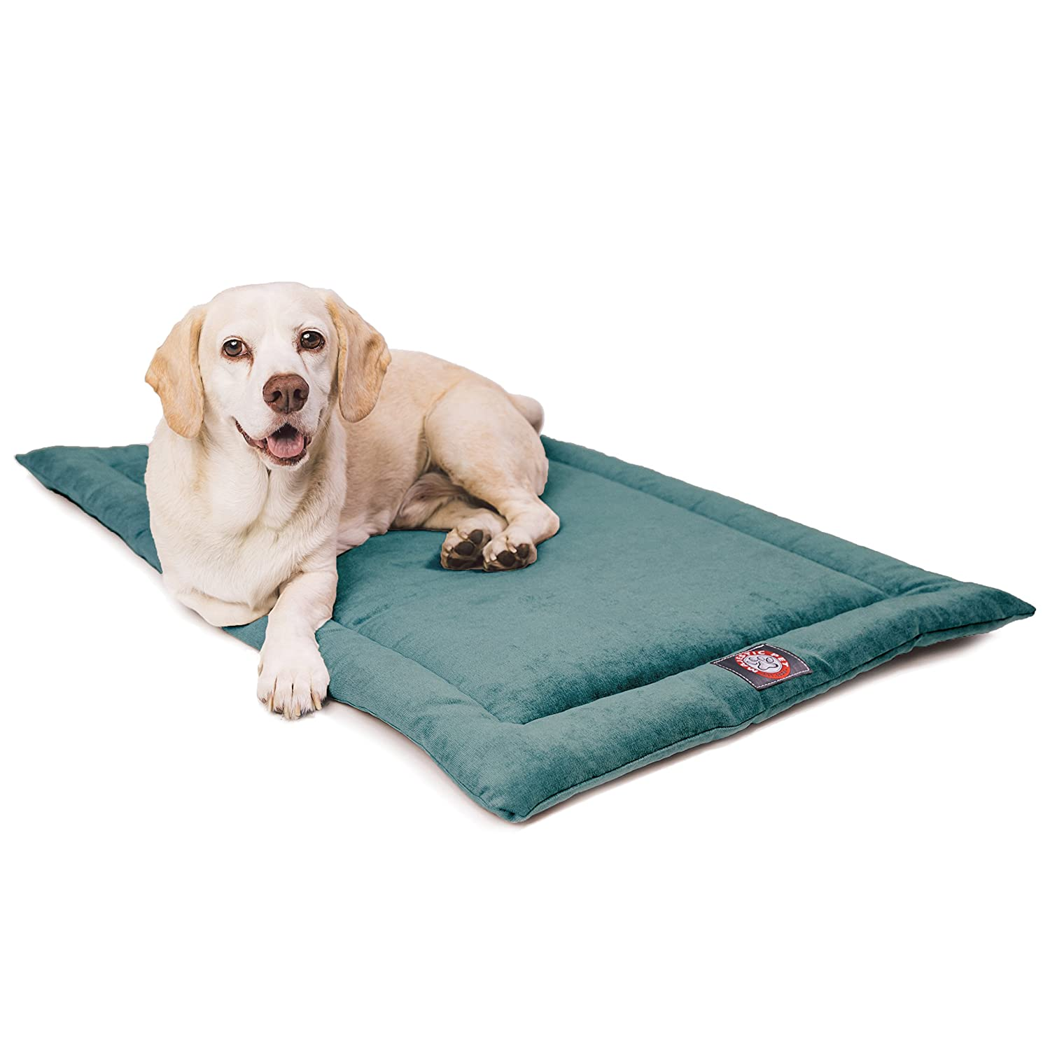 Azure 30Inch48  Villa Navy bluee Crate Dog Bed Mat by Majestic Pet Products