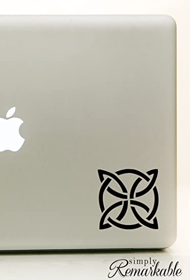 Vinyl Decal Sticker for Computer Wall Car Mac Macbook and More Celtic Knot Size 4.2 x 4.2 inches