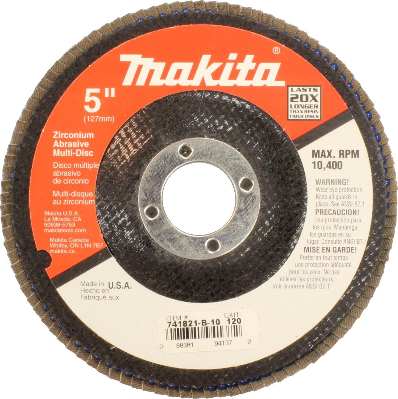 Makita 741821-B-10 5-Inch Multi Disc #120, 10-Pack