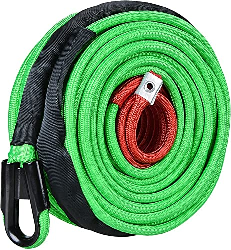 Astra Depot Synthetic Winch Rope Cable Green 22000lbs 95ft x 3/8 inch