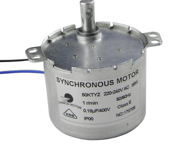 50KTYZ AC Motor 220V 1.1RPM Synchronous Motor Geared 6W Torque 45Kg.cm CHANCS