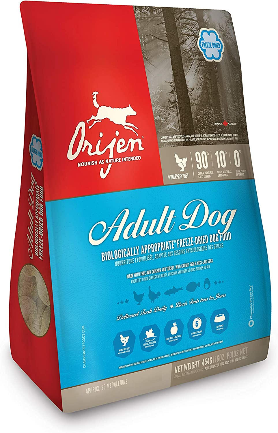 ORIJEN Original High-Protein, Grain-Free, Premium Animal Ingredient, Biologically Appropriate, Freeze-Dried Dog Food