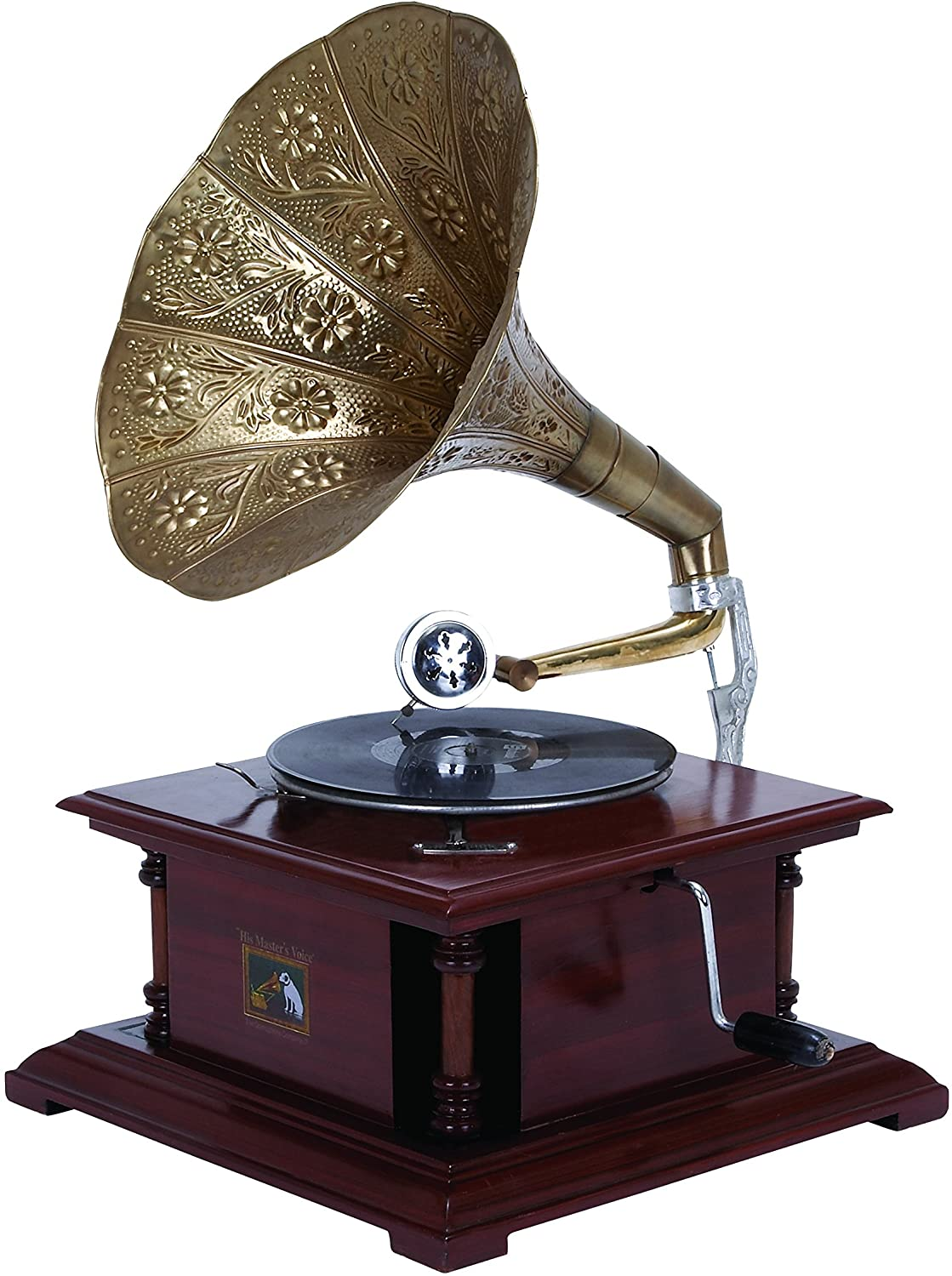 Deco 79 Wood Metal Gramophone an Excellent Home Decor