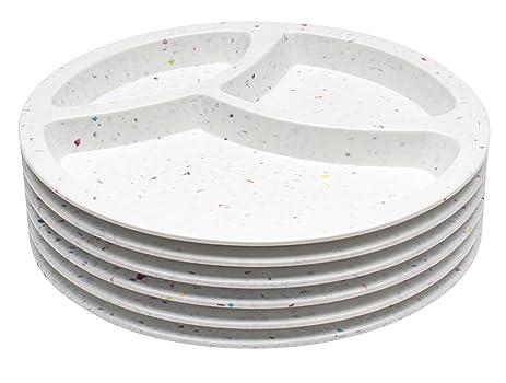 Zak! Designs Confetti Divided Plate (Set of 6) Durable and BPA-  sc 1 st  Amazon.com & Amazon.com | Zak! Designs Confetti Divided Plate (Set of 6) Durable ...