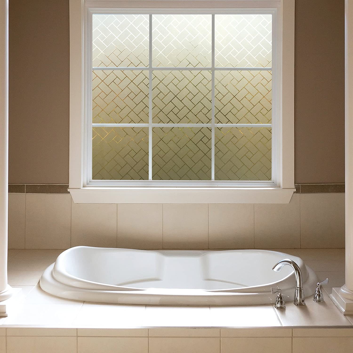 Gila 50188237 Film-36 x6.5 Frosted Tile Decorative Privacy Control Static Cling Window Film 36 x 78-INCH 36in x 78in 3 6.5 ft.