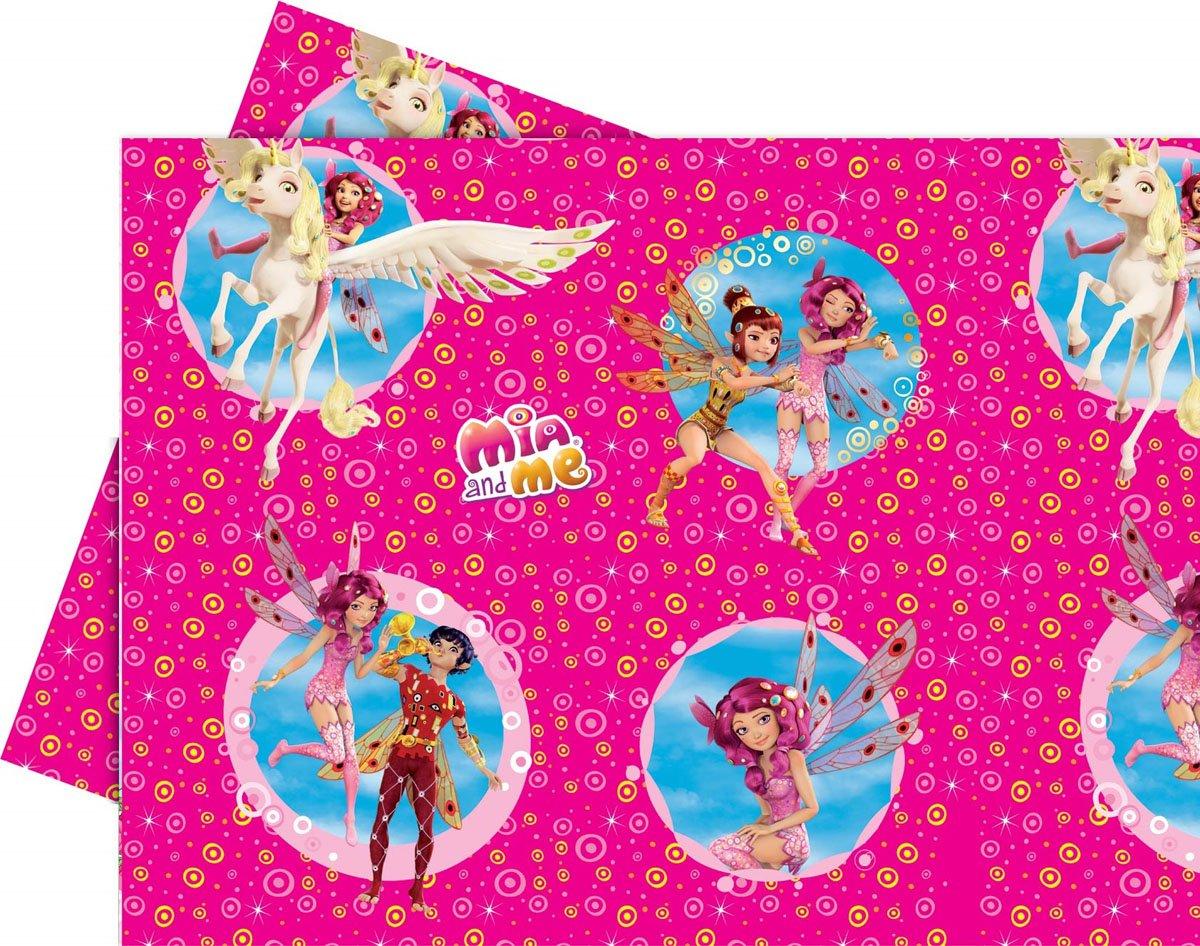 1 Tischdecke * MIA AND ME * für Kindergeburtstag oder Motto-Party // Kinder Geburtstag Plastic Table Cover Abenteuer in Centopia Pony Einhorn Procos PCS-82488