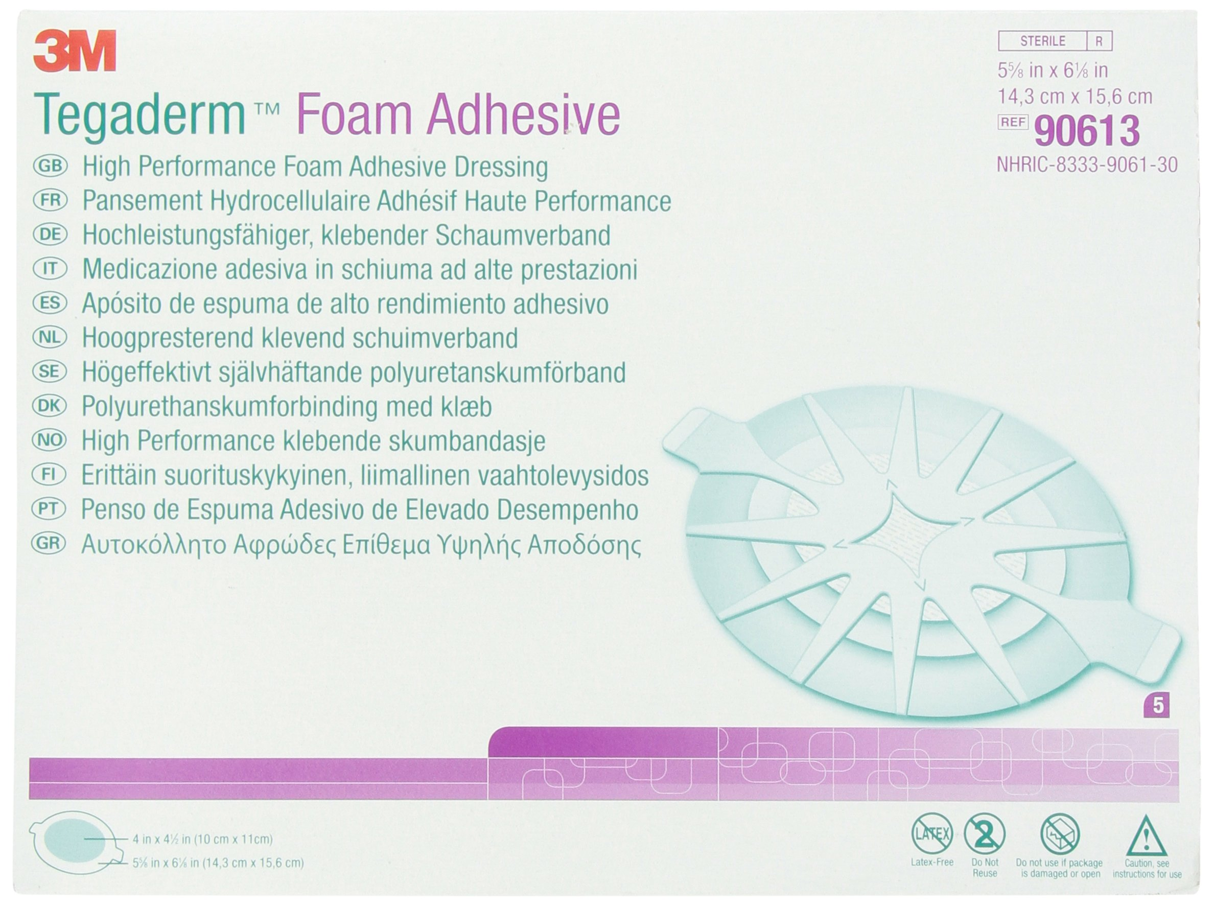 3M Tegaderm™ Foam Adhesive Dressing 5 5/ 8'' x 6 1/ 8'' (8890613) Category: Specialty Dressings Woundcare Products