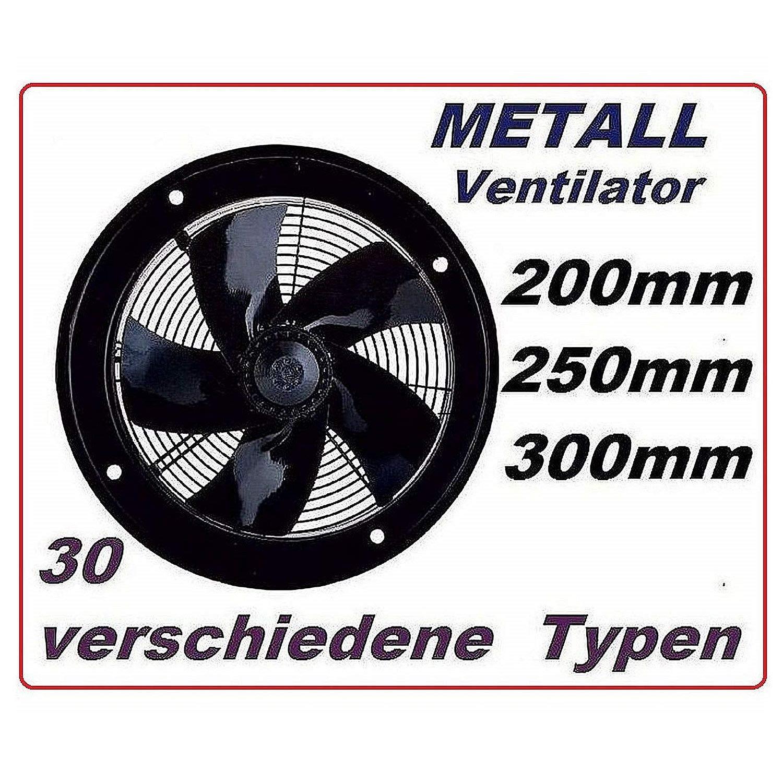 Uzman-Versand 250mm Ventilador Industrial Ventilaci/ón 1800m/³//h Extractor Helicoidal aspiracion mura pared ventana