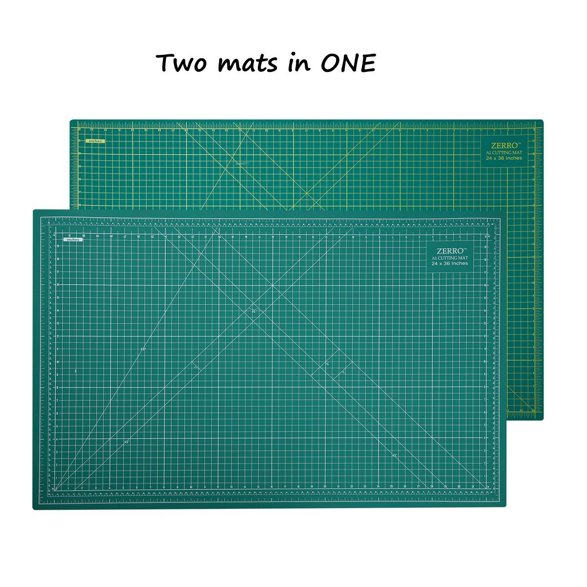 ZERRO Self Healing Cutting Mat 24'' x 36'',Professional Double Sided Durable Non-Slip Rotary Mat for Scrapbooking, Quilting, Sewing-3mm Thick