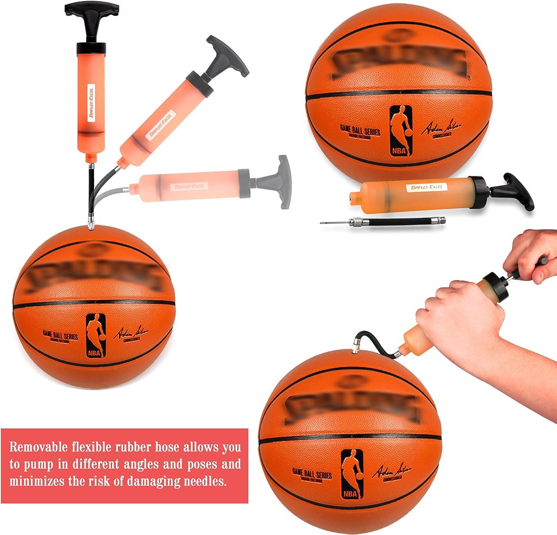 JRing Bomba de Bola Bomba de Bola Inflable de Alta Velocidad con el Adaptador de la V/álvula de las Agujas Para el Baloncesto Balones de F/útbol Volleyball Rugby y Otros Inflables
