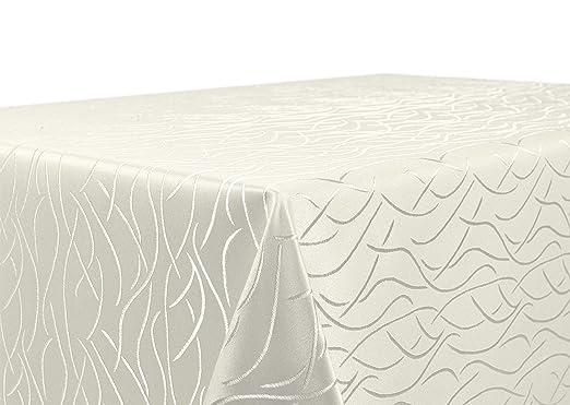 Rund 135 cm Farbe wählbar Streifen Tischdecke Damast Beautex