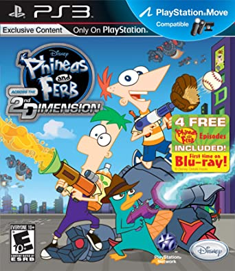 Disney Phineas and Ferb: Across The 2nd Dimension, PS3, ESP PlayStation 3 Español