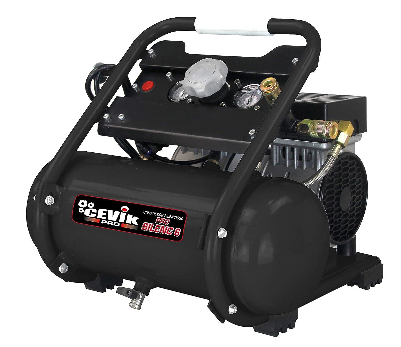Cevik 1 Compresor silencioso 6 litros 1Hp: Amazon.es: Bricolaje y herramientas