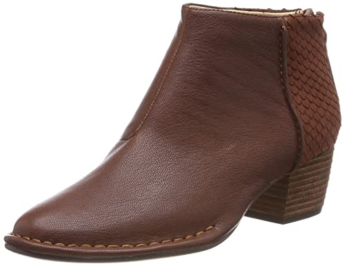 Clarks Spiced Ruby, Botines Femme, Marron (Tan Combi Leather