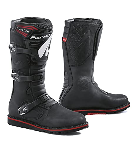 prezzo di fabbrica f3669 22b9b FORMA Stivali da Moto Trial Boulder Omologata CE, Nero, 42 ...