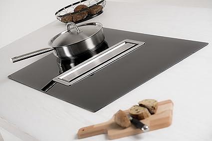 Silverline Luna - Campana de cocina para encimera con placa de inducción de cristal negro y motor: Amazon.es: Grandes electrodomésticos