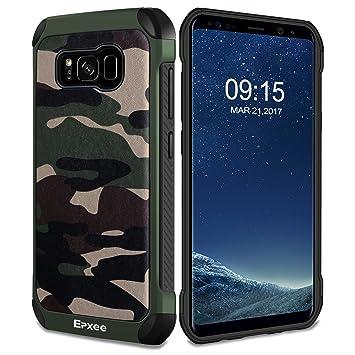 Epxee Funda para Samsung Galaxy S8, Silicona Shock-Absorción Case Carcasa para Samsung Galaxy S8 (Camuflado-001)
