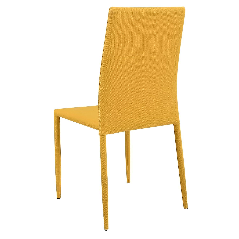 Cocina u Oficina tapizadas de Tela para Comedor sal/ón en.casa /® Gris Claro Set de 2 sillas