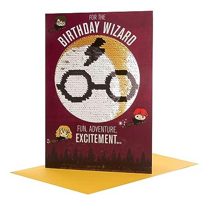 Hallmark – Tarjeta de cumpleaños reversible con lentejuelas