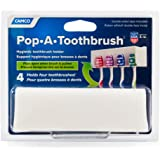 Camco A Pop-A-Toothbrush Wall Mounted Holder with Germ Protecting Cover, Holds 4, White