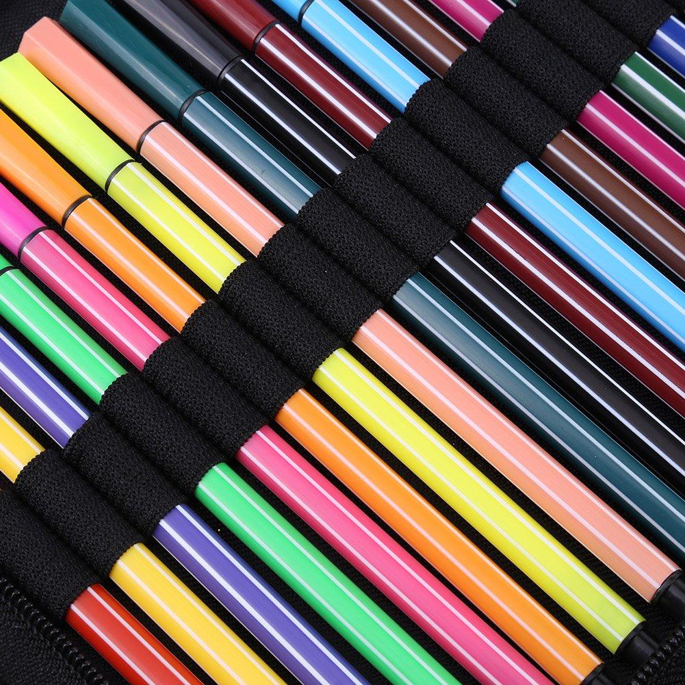 Ufficio 72//120/Slot tela sacchetto della matita su Matite Colorate Astuccio Portapenne matita vibrazione grande capacit/à buntstifte Custodia per Scuola Viaggio 120 Schlitze