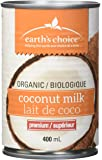 Earth's Choice Organic Coconut Milk Superior, 12-Count of 400ml