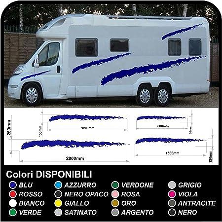 Wohnmobil Wohnwagen Grafik Dekoration Aufkleber Camper Sticker Vinyl Grafiken Streifen Set Van Caravan Reisemobil Grafik 32 Kit Aufkleber Wohnmobil Silber Auto