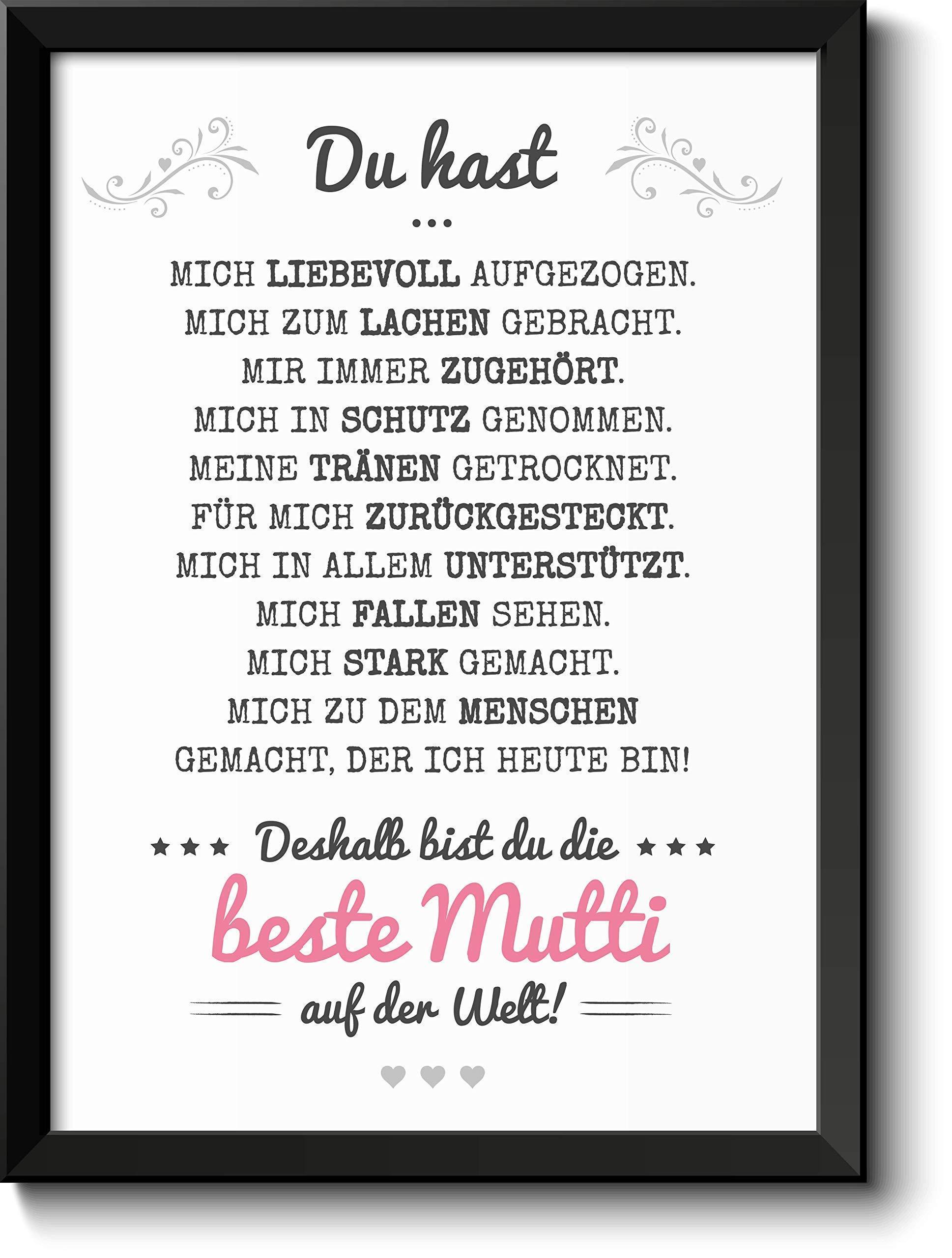 Beste Mama Bild im schwarzem Holz-Rahmen Geschenkidee Geschenke für Mutti zum Muttertag Muttertagsgeschenk Mutter Bild