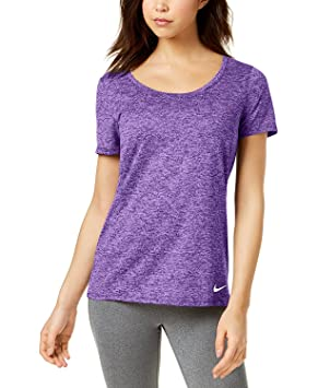 Nike Womens Dri-Fit Yoga T-Shirt: Amazon.es: Deportes y aire ...