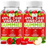 (2-Pack) Apple Cider Vinegar Gummies with The Mother for Metabolism Support & Detox - Acv Gummies for Appetite, Gummy Alterna