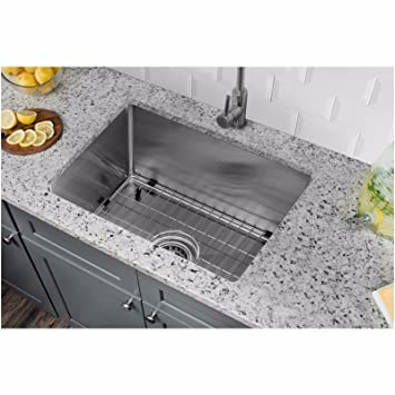 Cahaba CA221SB15 15 x 20 16 Gauge Stainless Steel Single Bowl Bar and Prep  Sink with