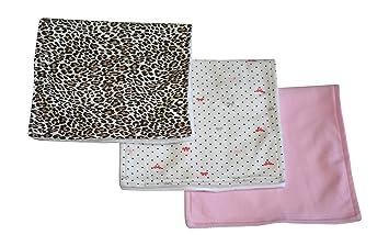 4175016a1b Carter s 3 Pack Burp Cloth Set of 3 Burp cloths dots bows solid Leopard  Print
