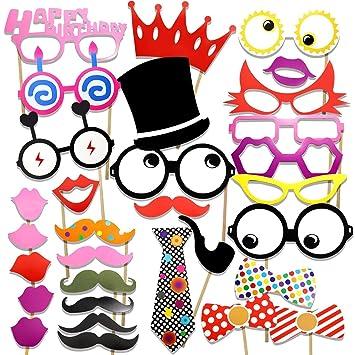 Veewon Foto Booth accesorios para bigote de la fiesta de ...