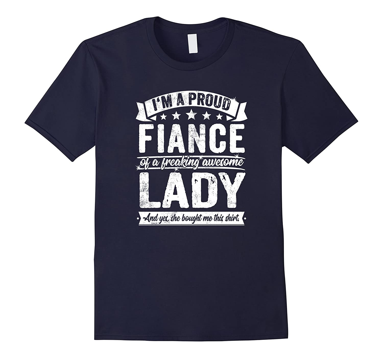 Fiance Funny Gift Awesome Lady Present T Shirt-FL