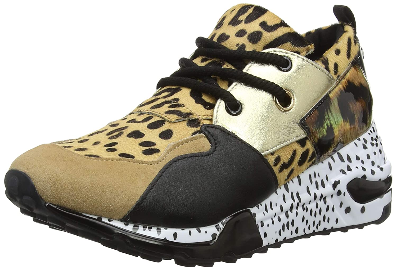 Steve Madden Damen Cliff Sneaker, Multicolour (Animal 911)