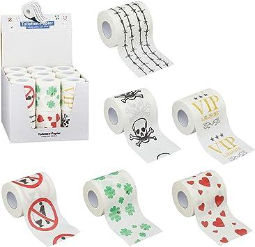 Toilettenpapier 3-lagig 2oo Blatt mit lustigen Motiven