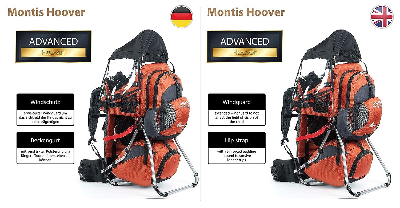 carga m/áxima de 25 kg color gris Montis Hoover Mochila portabeb/és