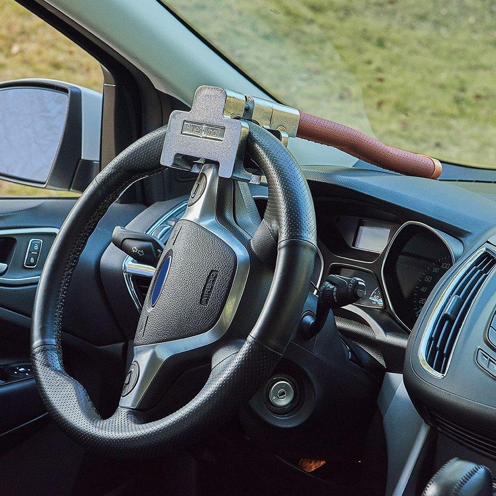 marr/ón Blueshyhall Professional Volante Cerradura Volante garra para volante antirrobo Volante Auto con llave