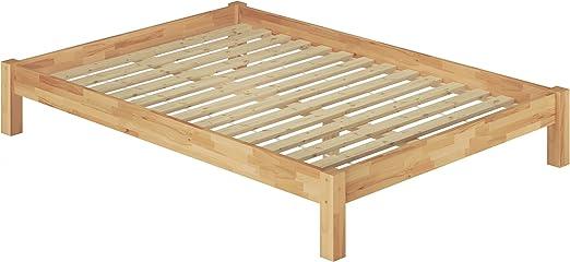 Erst Holz Franzosisches Bett 140x200 Doppelbett Futonbett Massivholzbett Buche Natur Rollrost 60 84 14 Amazon De Kuche Haushalt