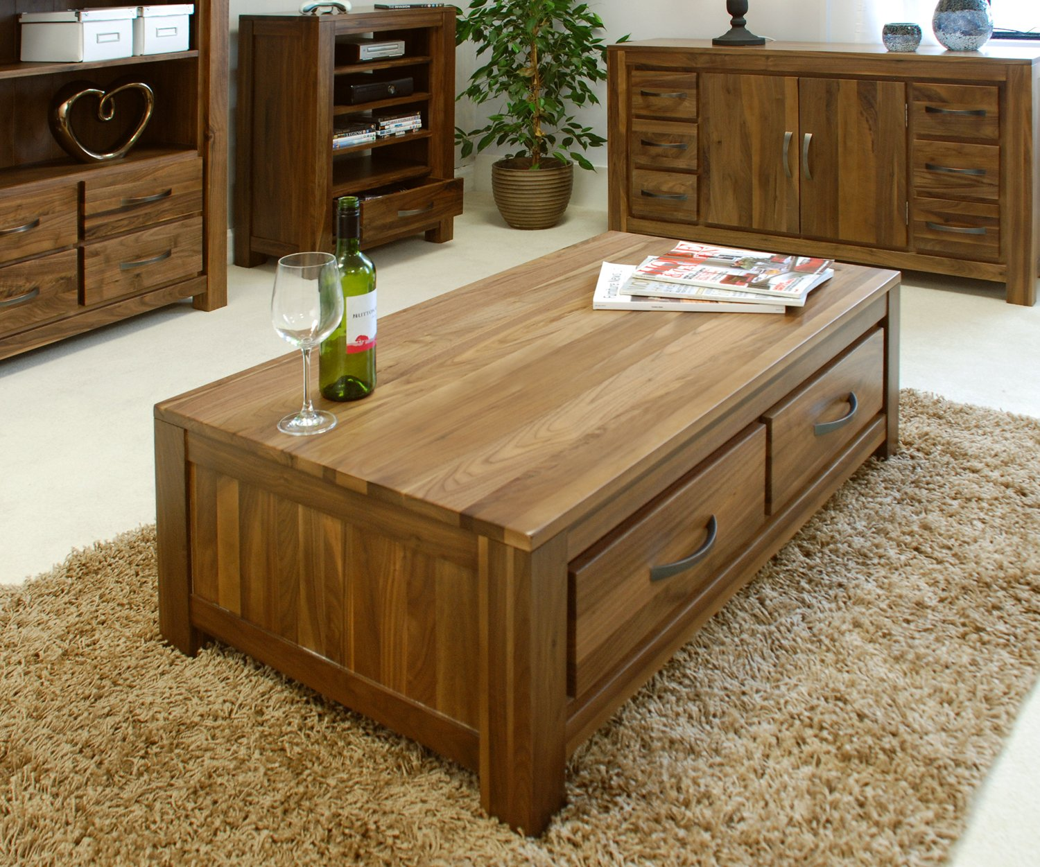 Baumhaus mayan walnut low four drawer coffee table amazon baumhaus mayan walnut low four drawer coffee table amazon kitchen home geotapseo Image collections