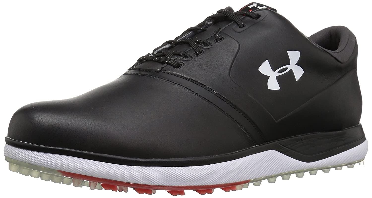 Under Armour Men's Performance SL Leather Golf Shoe B071P31LY2 9.5 M US|Black (001)/Sultry