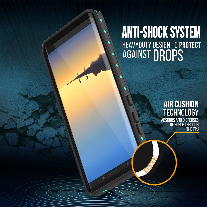 Galaxy Note 8 Waterproof Case, Punkcase [StudStar Series] [Slim Fit] [IP68 Certified] [Shockproof] [Dirtproof] [Snowproof] Armor Cover for Samsung Galaxy Note 8 [Teal]