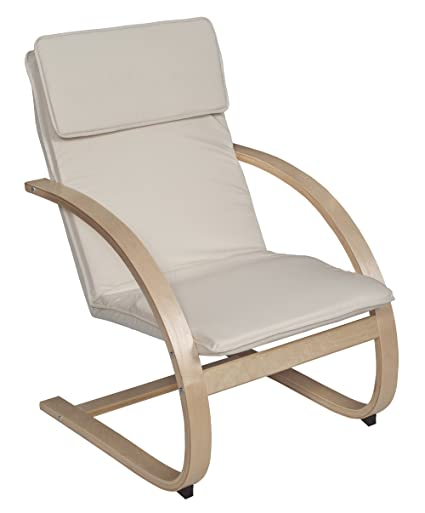 Excellent Niche 2000Ntbg Mia Bentwood Reclining Lounge Chair 26 5Wx28Lx39 5H Natural Beige Evergreenethics Interior Chair Design Evergreenethicsorg