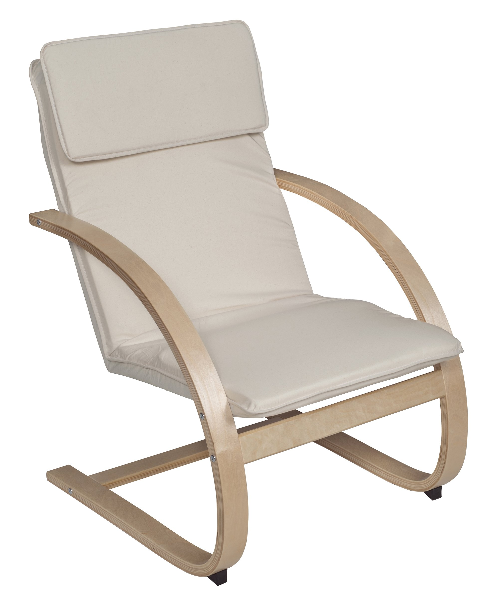 Niche Mia Reclining Bentwood Chair,Natural/Beige